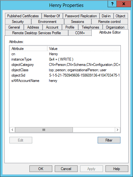 Mandatory Attributes of a User Object in Active Directory