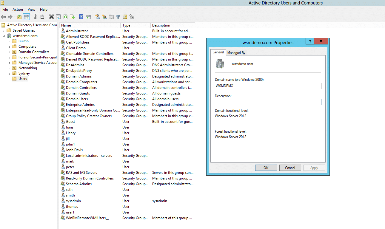 How to view Domain Functional Level from Active Directory Users and Computers (ADUC)
