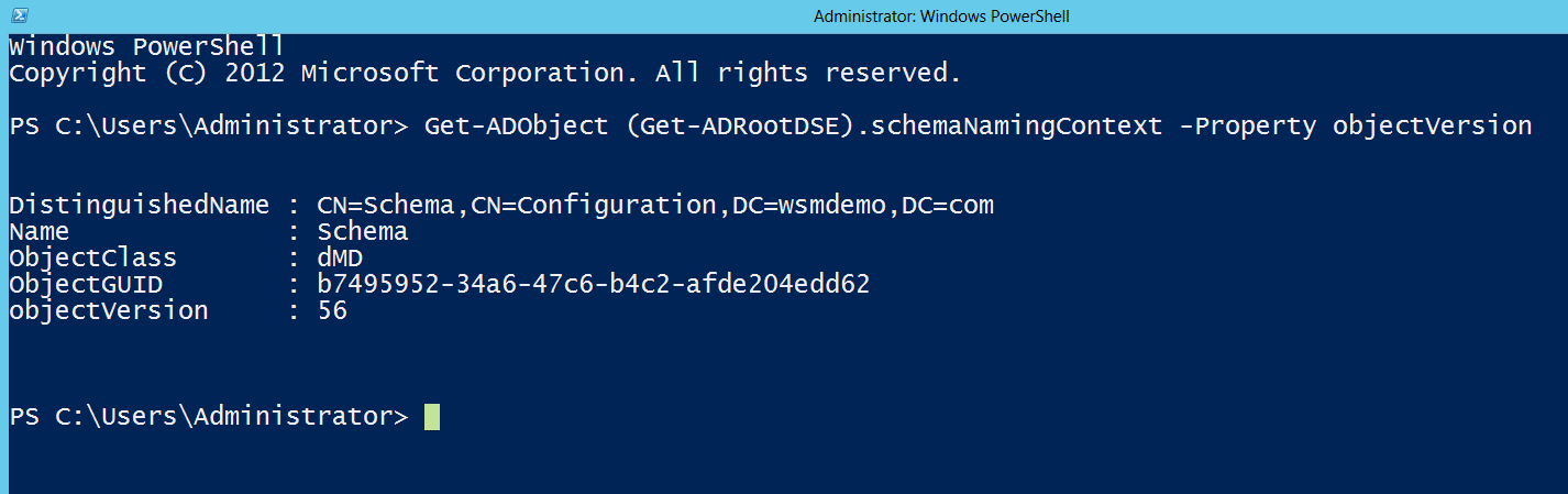 Checking Current AD Schema Version using PowerShell
