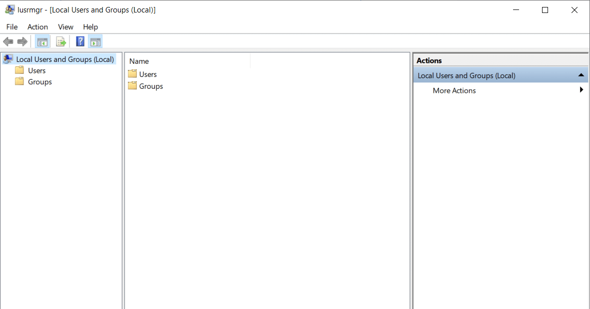 Local Users and Group Dialog Box in Active Directory