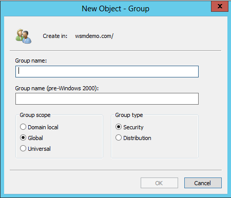 Creating a new Group Object