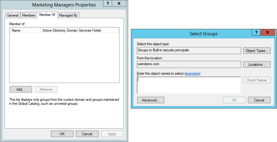 Creating a nested group in Active Directory